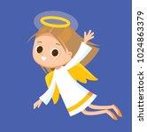 vector baby angel | Shutterstock .eps vector #1024863379