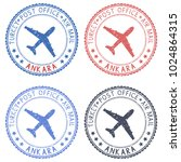 colored stamps with ankara ... | Shutterstock . vector #1024864315