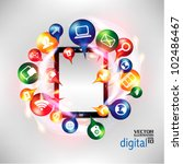 modern conceptual digital... | Shutterstock .eps vector #102486467