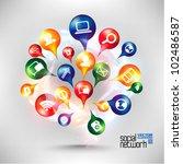 modern conceptual digital... | Shutterstock .eps vector #102486587