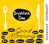 breakfast time logo  fork ... | Shutterstock .eps vector #1024866697
