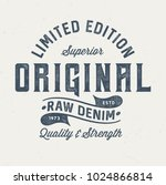original raw denim   vintage... | Shutterstock .eps vector #1024866814