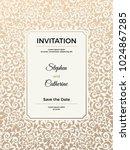 vintage wedding invitation... | Shutterstock .eps vector #1024867285