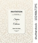vintage wedding invitation... | Shutterstock .eps vector #1024867291