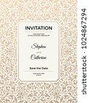 vintage wedding invitation... | Shutterstock .eps vector #1024867294