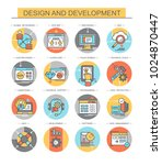 design and development. set of... | Shutterstock .eps vector #1024870447
