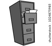 filing cabinet illustration   a ... | Shutterstock .eps vector #1024875985