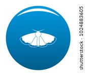 moth icon vector blue circle... | Shutterstock .eps vector #1024883605