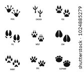 mark of the beast icons set.... | Shutterstock .eps vector #1024885279