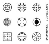 aim target icons set. simple... | Shutterstock .eps vector #1024885291