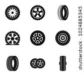 wheel icons set. simple set of... | Shutterstock .eps vector #1024885345