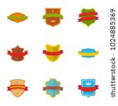 shield icons set. flat set of 9 ... | Shutterstock .eps vector #1024885369