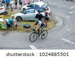 Small photo of Col du Glandon, France - July 24, 2015: The Australian cyclist, Michael Matthews of Team Orica-Greenedge,climbing the road to Col du Glandon in Alps, during the stage 19 of Le Tour de France 2015.