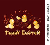 happy easter. musical... | Shutterstock .eps vector #1024886515