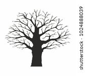 tree silhouette on white... | Shutterstock .eps vector #1024888039