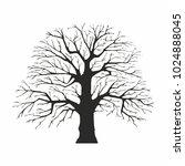 tree silhouette on white... | Shutterstock .eps vector #1024888045