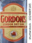 Small photo of LONDON, UK - CIRCA FEBRUARY 2018: Bottle of Gordon London Dry Gin alcoholic drink
