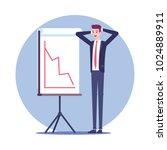 surprised businessman standing... | Shutterstock .eps vector #1024889911