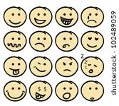 Cute Face Icons For Children ...