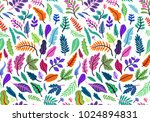 seamless leaf pattern. tropical ... | Shutterstock .eps vector #1024894831