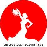silhouette of flamenco dancer... | Shutterstock .eps vector #1024894951