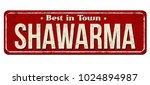 shawarma vintage rusty metal... | Shutterstock .eps vector #1024894987