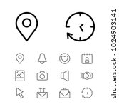 web icons set with pin  volume...