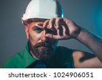 hard work. builder working with ... | Shutterstock . vector #1024906051