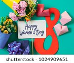 happy women's day card.... | Shutterstock . vector #1024909651
