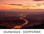 follow the lights. sunset... | Shutterstock . vector #1024914064