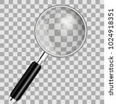 magnifying glass isolated on... | Shutterstock .eps vector #1024918351