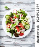 colorful summer salad. salad... | Shutterstock . vector #1024918399