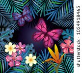 tropical and exotics flowers... | Shutterstock .eps vector #1024918465