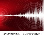 digital earthquake wave with... | Shutterstock .eps vector #1024919824