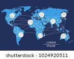 world network. social networks... | Shutterstock .eps vector #1024920511