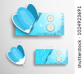 vector greeting blue and white... | Shutterstock .eps vector #1024923691