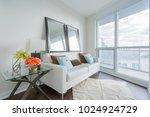 living room interior | Shutterstock . vector #1024924729