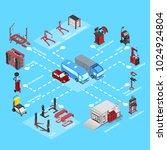 autoservice equipment set ... | Shutterstock .eps vector #1024924804