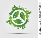 ecology concept. save world... | Shutterstock .eps vector #1024928821