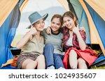 happy three asian girl friends... | Shutterstock . vector #1024935607