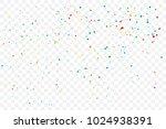 colorful explosion of confetti. ... | Shutterstock .eps vector #1024938391