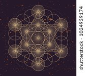 metatrons cube  a vector... | Shutterstock .eps vector #1024939174