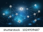 abstract background connecting... | Shutterstock .eps vector #1024939687