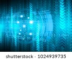binary circuit board future... | Shutterstock .eps vector #1024939735