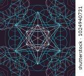 seamless trendy metatrons cube  ... | Shutterstock .eps vector #1024940731