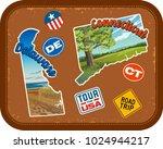 delaware  connecticut  travel... | Shutterstock .eps vector #1024944217