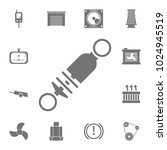 shock absorber icon. set of car ... | Shutterstock .eps vector #1024945519