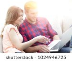 young woman showing her... | Shutterstock . vector #1024946725