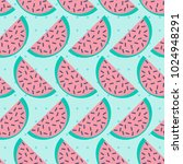 trendy seamless pattern with... | Shutterstock .eps vector #1024948291