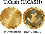 set of physical golden coin u... | Shutterstock .eps vector #1024948639